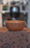 Гончарная пиала с эффектом кракле на глине